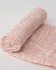 Pink Fossil Swaddle Blanket | Little Unicorn