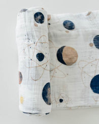 Planetary Cotton Swaddle Blanket | Little Unicorn
