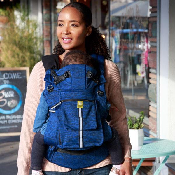 Heathered Sapphire | Pursuit Pro 6 Position Baby Carrier | LILLEbaby