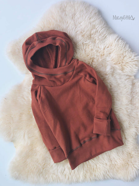 Cinnamon Grow with Me Pullover 3-6 Years | Matey & Me