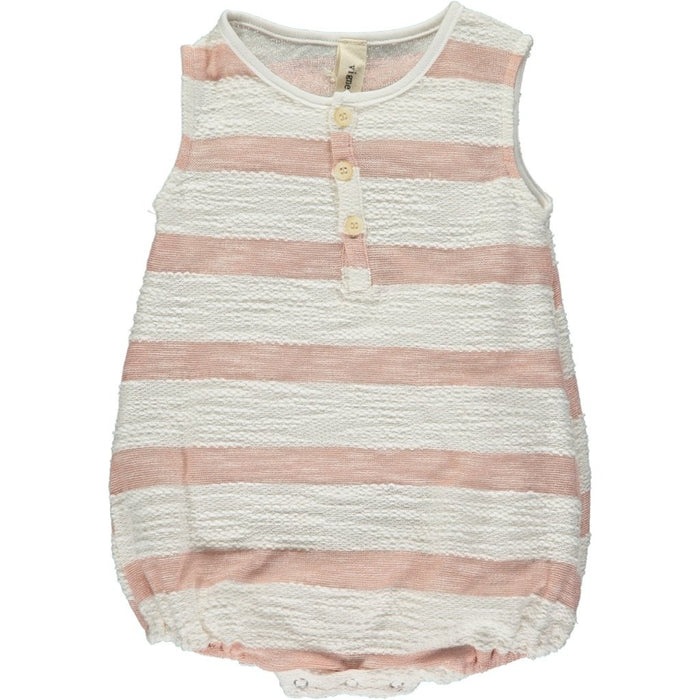 Rose Stripe Bryn Bubble Romper | Vignette