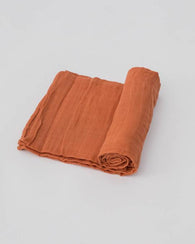 Rust Swaddle Blanket | Little Unicorn