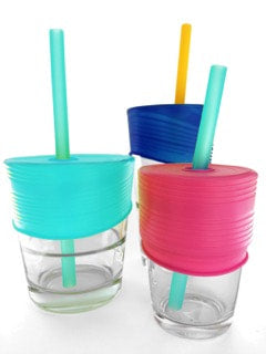 Silicone Universal Straw Tops | Silikids - Nature Baby Outfitter