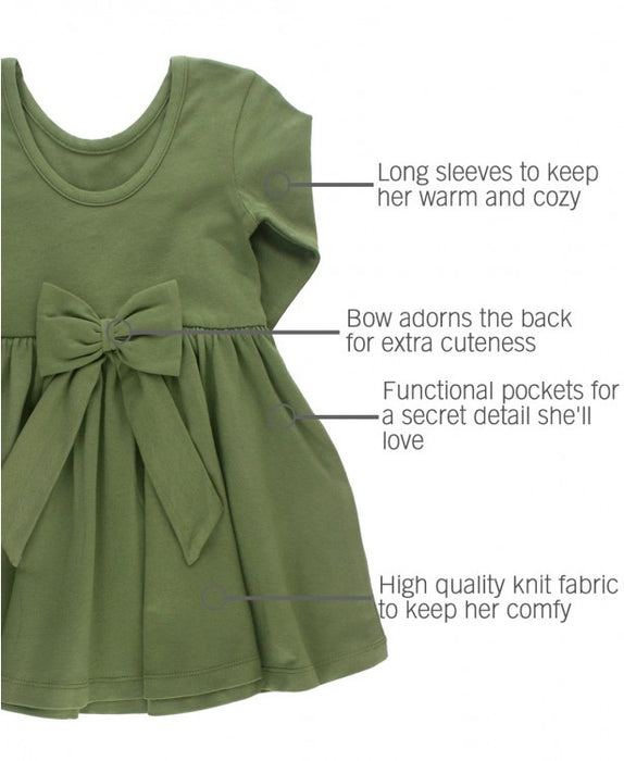 Moss Twirl Dress | Ruffle Butts