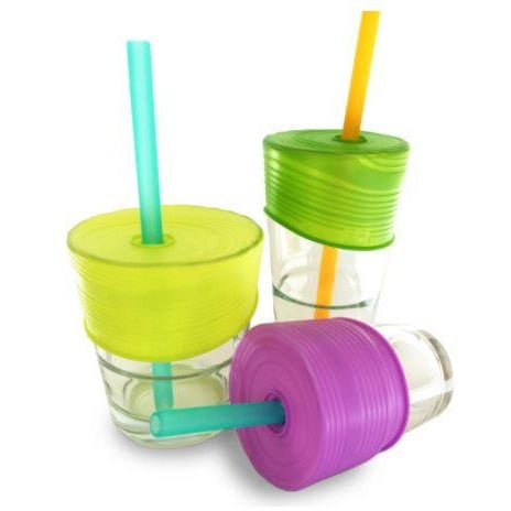 Siliskin Straw Tops - Silicone Universal Straw Tops - Nature Baby Outfitter