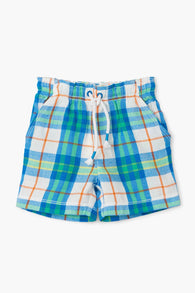 Tropical Plaid Woven Shorts | Hatley