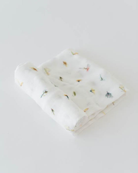 Gone Fishing Deluxe Muslin Swaddle Blanket | Little Unicorn