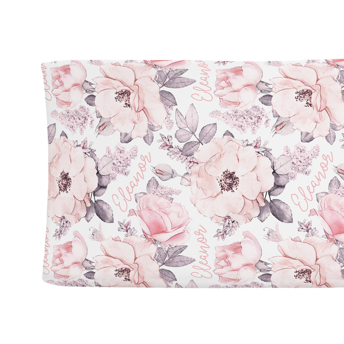 Personalized Changing Pad Cover - Wallpaper Floral | Sugar + Maple