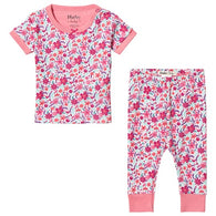 Pink Summer Garden Organic Cotton Shorts Pajamas | Hatley