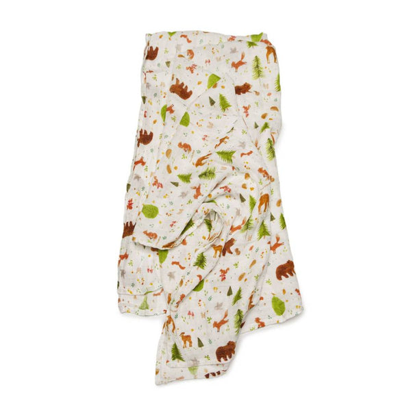 Forest Friends Muslin Swaddle Blanket | Loulou Lollipop