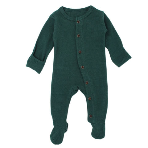 Pine Organic Thermal Footed Overall | L'ovedbaby