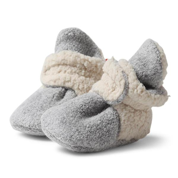 Heather Gray Cozie Fleece Furry Lined Bootie | Zutano