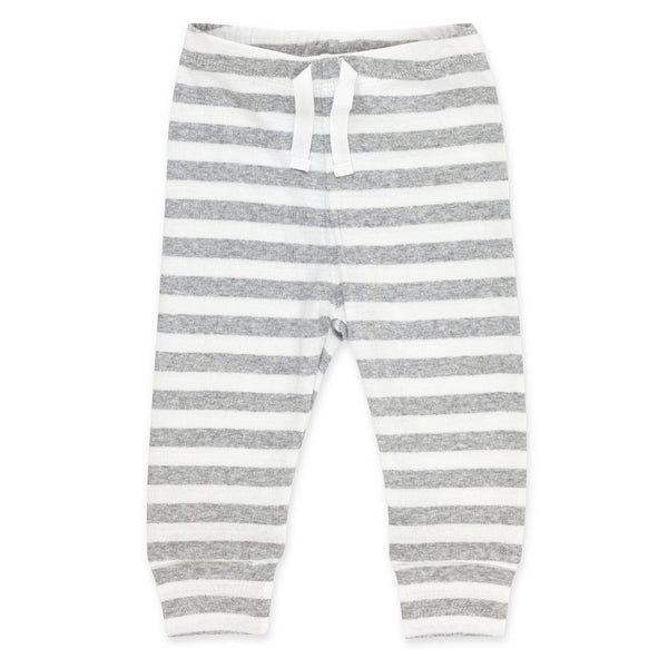 Heather Stripe Organic Cotton Rib Jogger Pants | Zutano