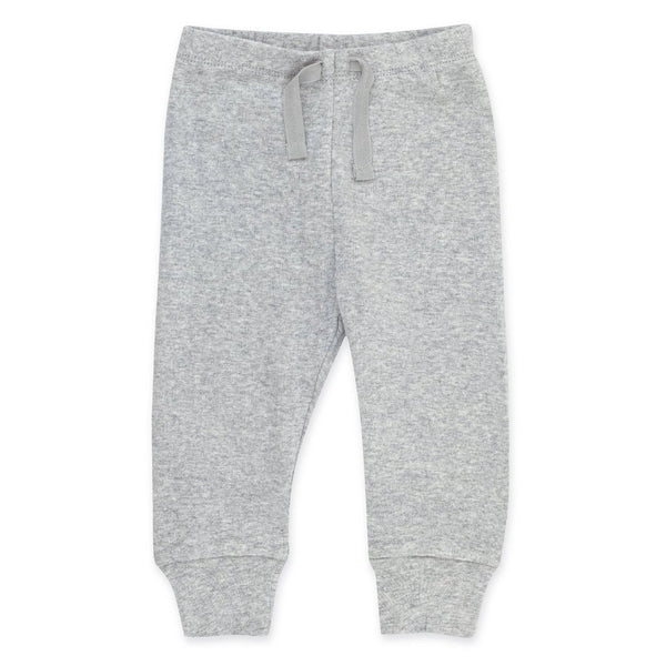 Heather Gray Organic Cotton Rib Jogger Pants | Zutano