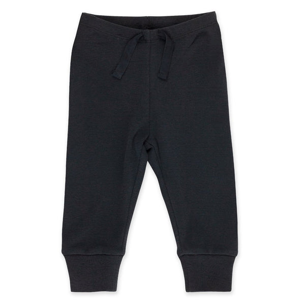 Black Organic Cotton Rib Jogger Pants | Zutano