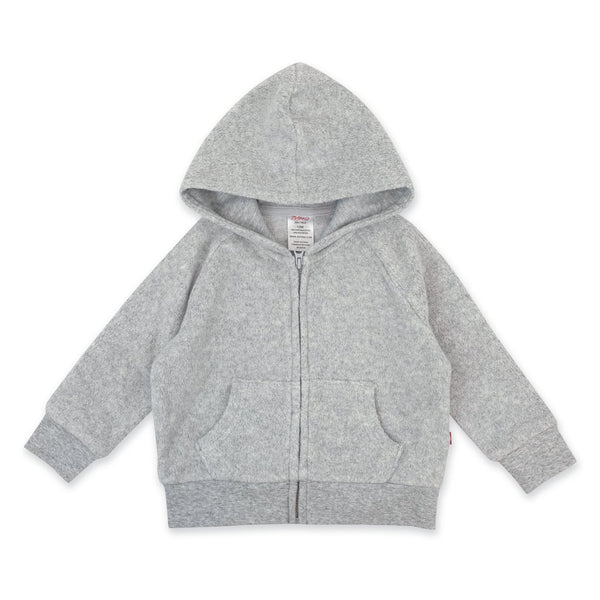 Heather Gray Fleece Zip Hoodie | Zutano
