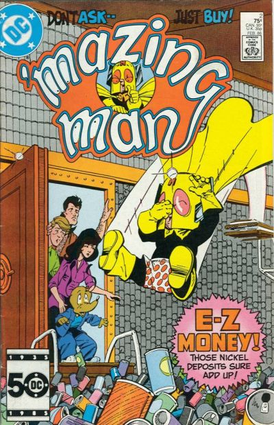 'Mazing Man (1986)  #2 cover