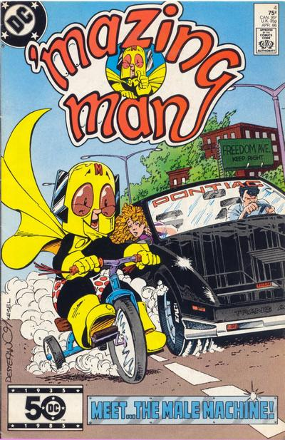 'Mazing Man (1986) #4 Issue 4 cover