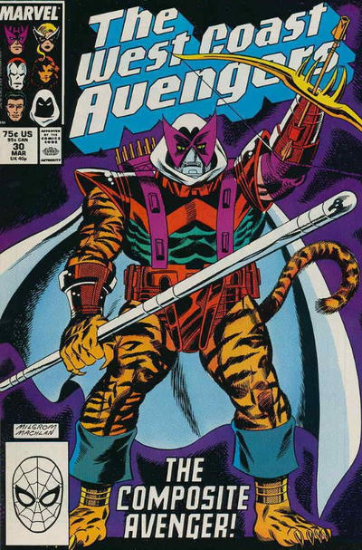 West Coast Avengers (1985)  #30 Issue 30 cover