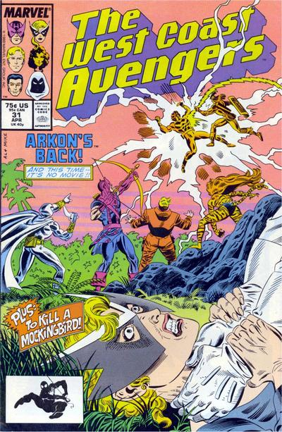 West Coast Avengers (1985)  #31 Issue 31 cover