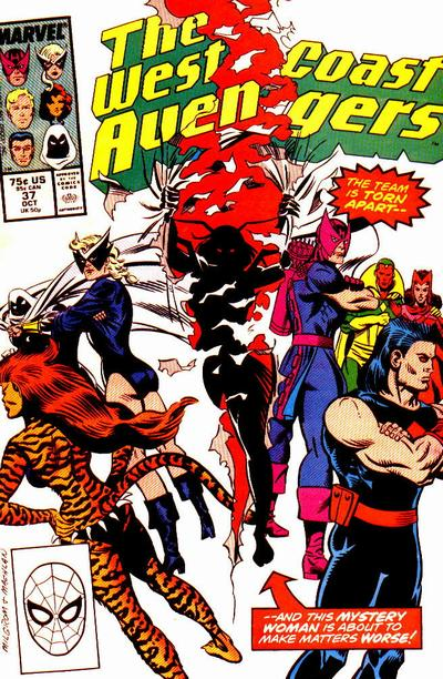 West Coast Avengers (1985)  #37 Issue 37 cover