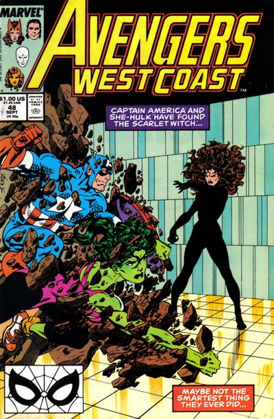Avengers West Coast (1989)  #48 Issue 48 cover