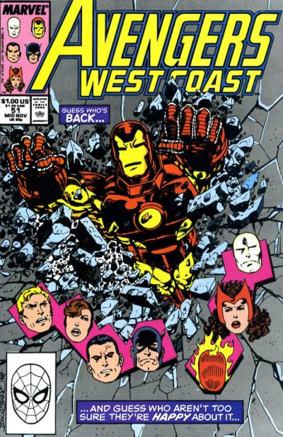 Avengers West Coast (1989)  #51 Issue 51 cover