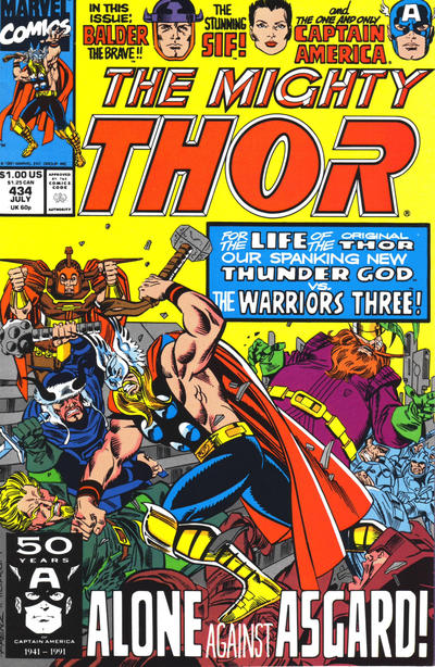 Thor (1966) #434 Issue 434 cover