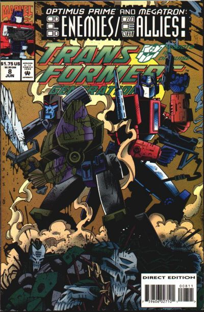 Transformers: Generation 2 (1993) #8 Issue 8 cover
