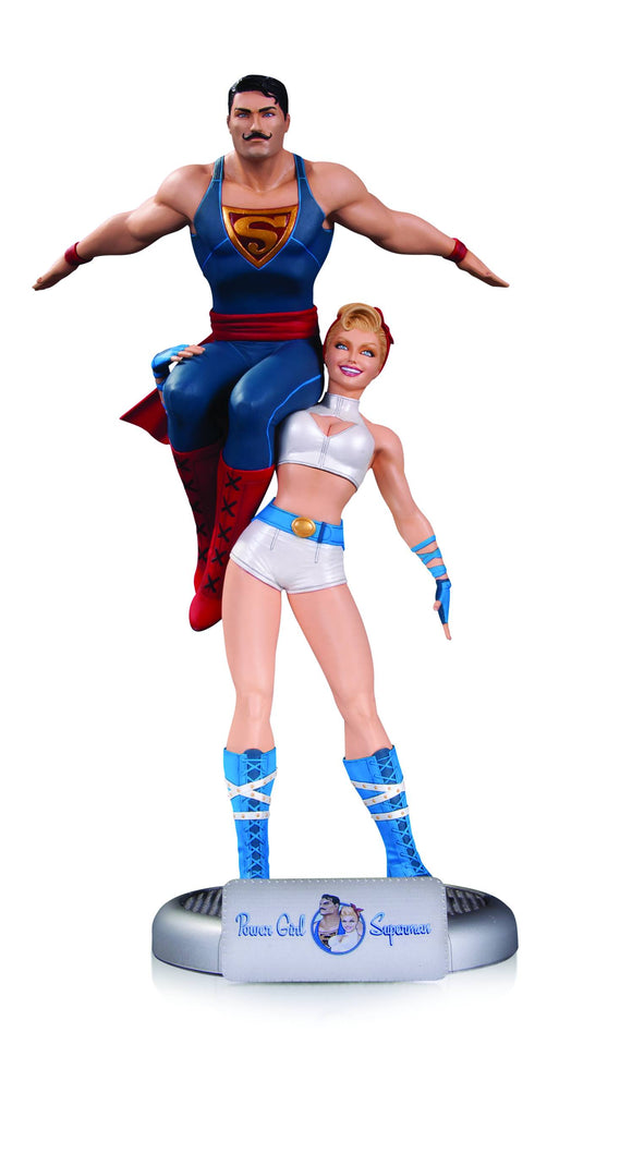 Dc Comics Bombshells Power Girl & Superman Statue