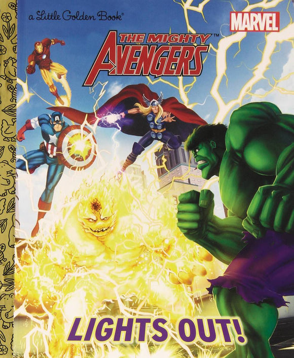 Mighty Avengers Lights Out Little Golden Book Reissue - Books