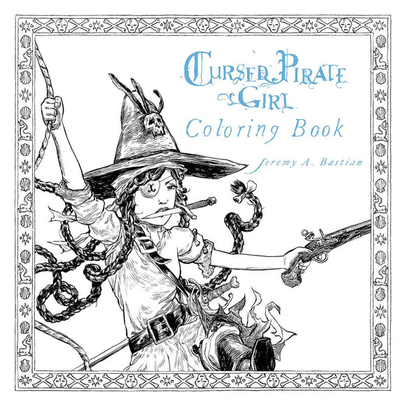 Cursed Pirate Girl Coloring Book Sc