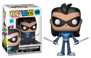 Pop Teen Titans Go Robin As Nightwing Vinyl Figure