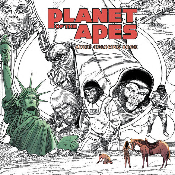 Planet Of The Apes Adult Coloring Book Sc