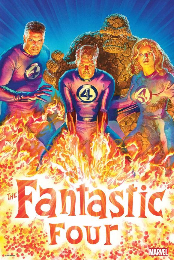 Fantastic Four 2018 By Alex Ross Poster