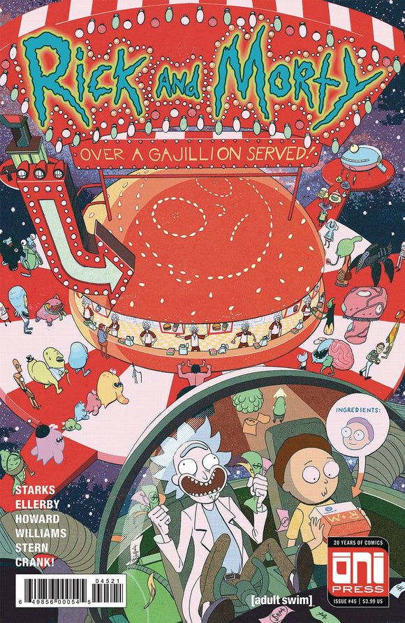 Rick & Morty #45 Cvr B Harvey Var
