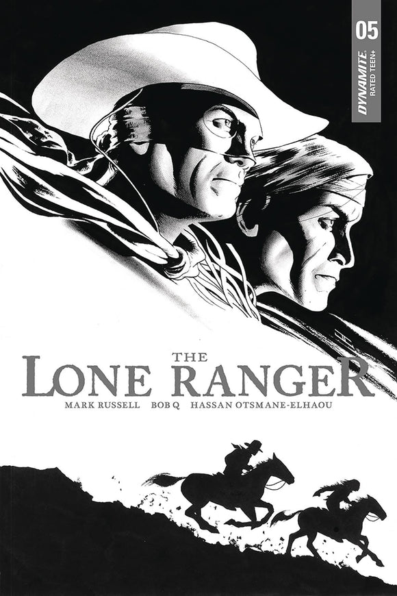 Lone Ranger Vol 3 #5 10 Copy Cassaday B&W Incv