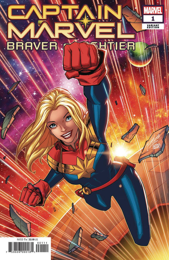 Captain Marvel Braver & Mightier #1 Lim Var