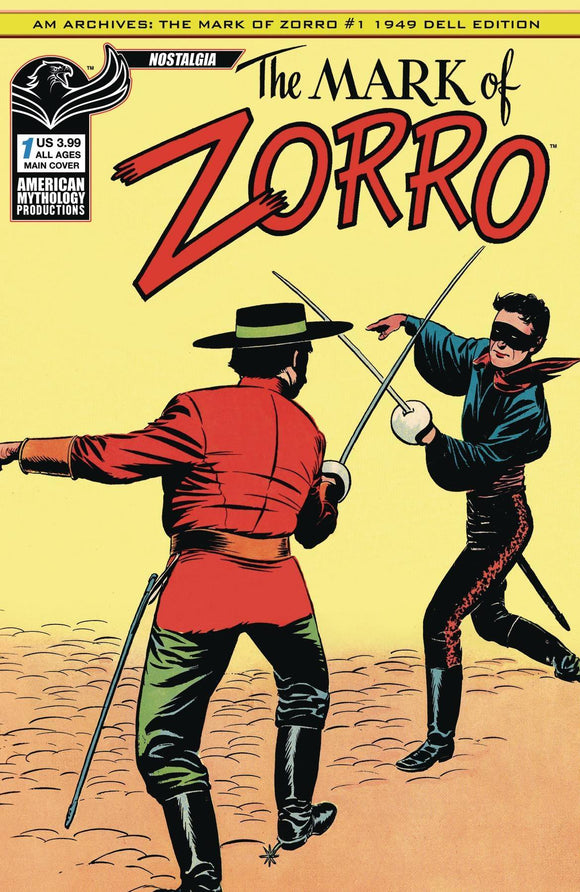 Am Archives Mark of Zorro 1949 1St App #1 Main Cvr - Comics