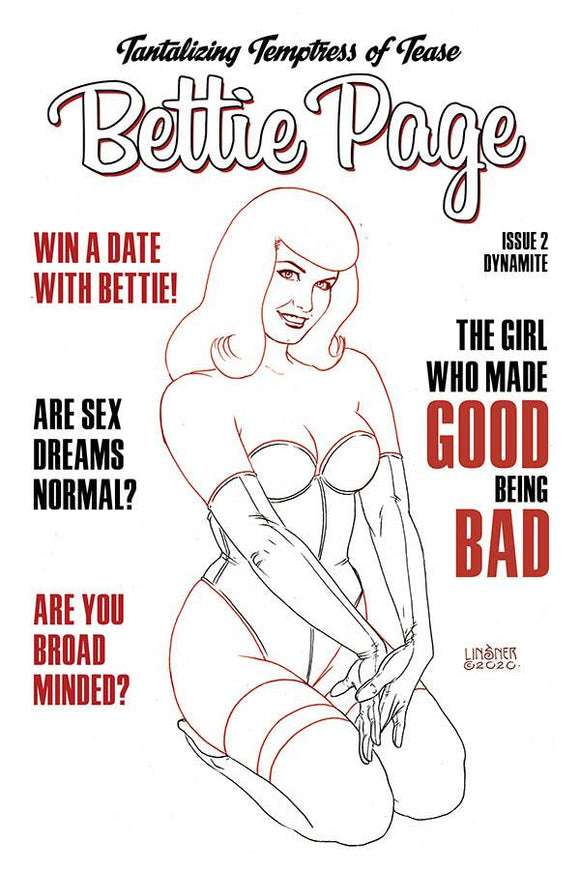 Bettie Page #2 35 Copy Linsner B&W Incv - Comics