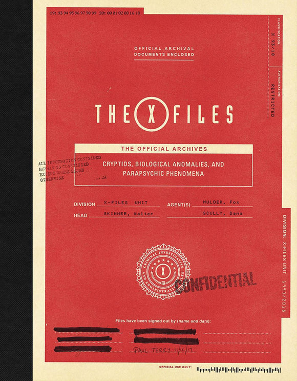 X-Files Official Archives Cryptids Anomalies & Phenomena HC - Books