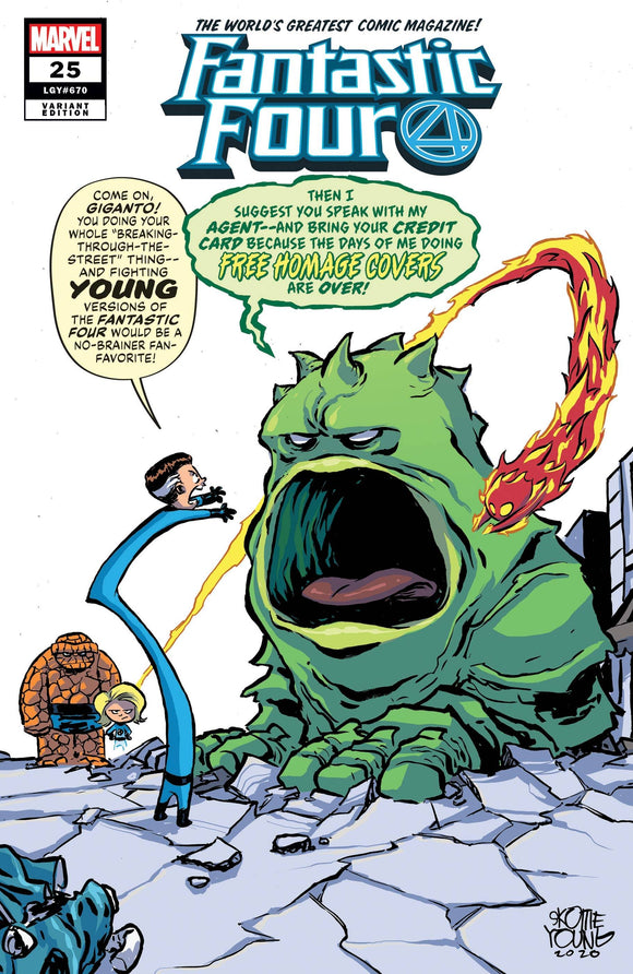 Fantastic Four #25 Young Var Emp - Comics