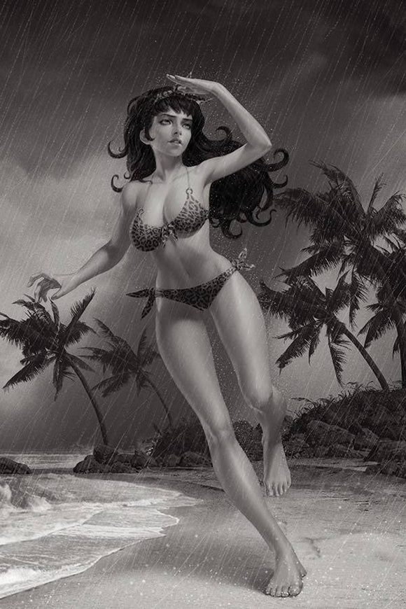 Bettie Page #2 15 Copy Yoon B&W Virgin Foc Incv - Comics