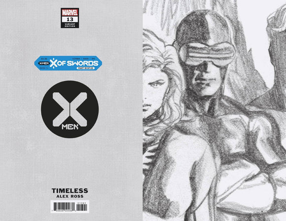 X-Men #13 Alex Ross Cyclops Timeless Virgin Sketch Var - Comics