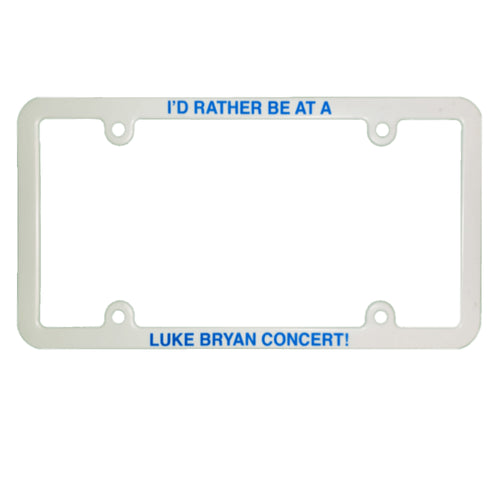 White plate frame that says