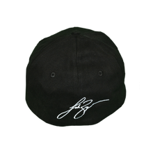 Load image into Gallery viewer, Back of black Luke Bryan hat, his signature is embroidered on with white stitching.