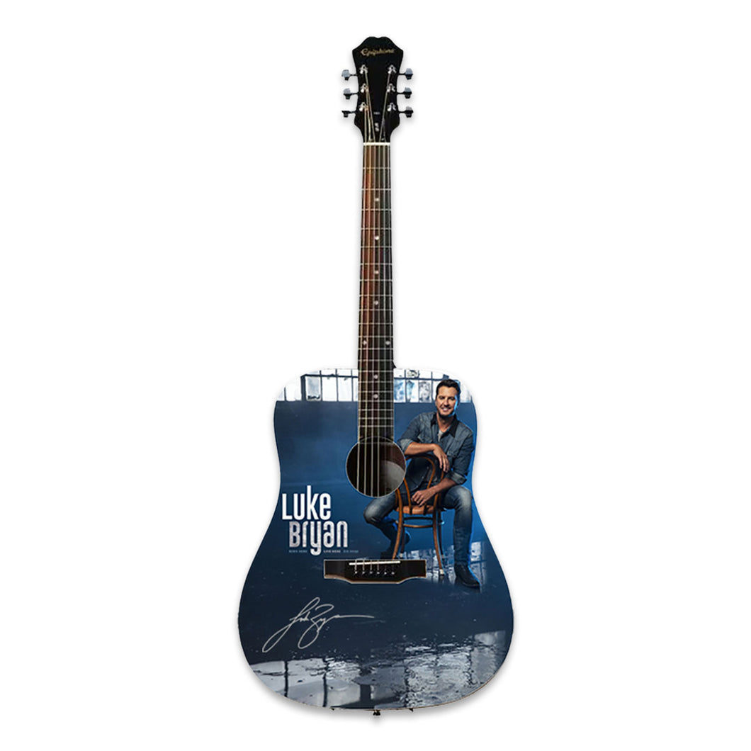 Luke Bryan Autographed Born Here Live Here Die Here Guitar