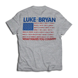 What Makes You Country Tour Flag Cities Tee - Back