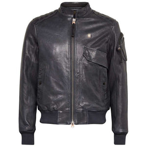 Padded leather jacket Haworx