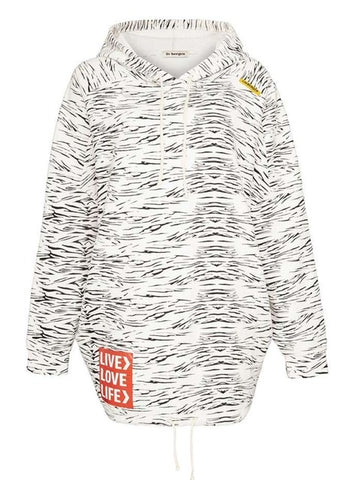 Long-Hoodie in Zebra-Optik